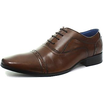 Ilhó de jipes 5 socou tampão Tan Mens Oxford laço sapatos