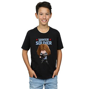 Marvel Boys Winter Soldier Bucky Toon T-Shirt