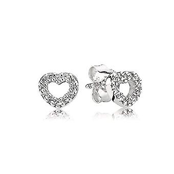 Pandora 290528CZ - Women's lobe earrings with cubic zirconia - silver sterling 925