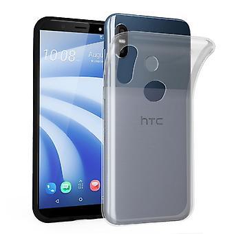 Cadorabo geval voor HTC U12 LIFE gevaldekking-mobiele telefoon geval gemaakt van flexibele TPU silicone-silicone geval beschermende case ultra slanke zachte terug Cover Case bumper