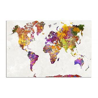 Deco Panel, world map with colored spots
