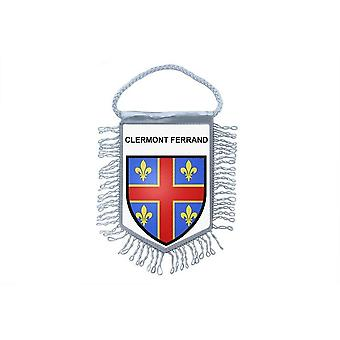 Fanion Mini Drapeau  Voiture Souvenir Blason France Clermont Ferrand Auvergne