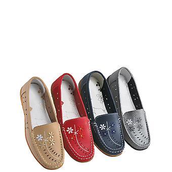 Chums Ladies Scarlett EE Fit Cuero Zapato Confort