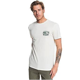 Quiksilver Waves Femmes et Roues Short Sleeve T-Shirt en Heather Blanche Antique