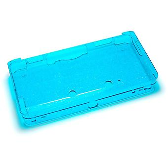 Glitter crystal case for nintendo 3ds (old 2012 model) - protective hard armor cover shell - blue