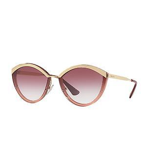 Prada SPR07U 967094 goud-roze/Violet gradiënt zonnebril