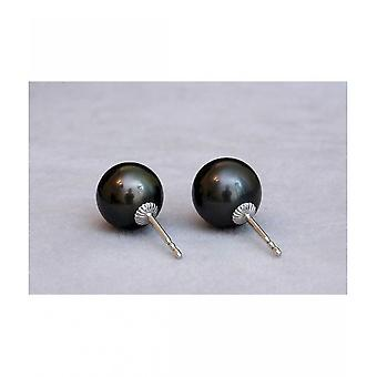 Luna-Pearls Tahitiperlen Studs 9-10mm O91