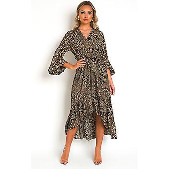 IKRUSH Womens Pennie Croc Print Maxi Dress
