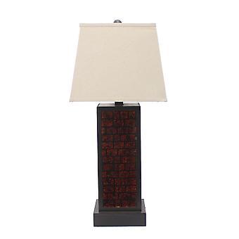 """13 """"x 15"""" x 30.75 """"בורגונדי, מתכת, תבנית לבנים-מנורת שולחן"""