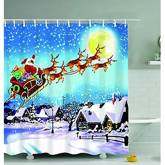 Classic Christmas Painting Shower Curtain