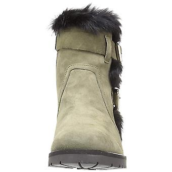 Charles David Womens Rustic Faux Fur Closed Toe Ankle Fashion Boots