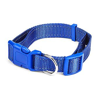 Large Blue Adjustable Reflective Collar