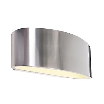 UpDown wall lamp Arietis max. 1x42 W G9 170x70mm silver aluminum dimmable