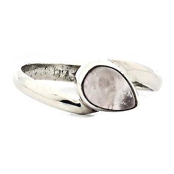 Ring 925 Silber mit Rosenquarz 51 mm / Ø 16.2 mm (KLE-RI-226-07-(51))