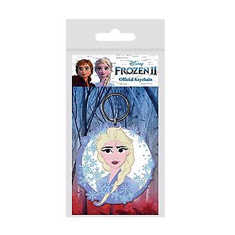 Frozen 2 Rubber Keyring with Elsa Design
