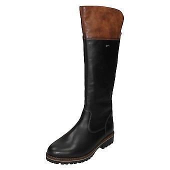 Dames remonte knie lengte water bestendig laarzen R6581