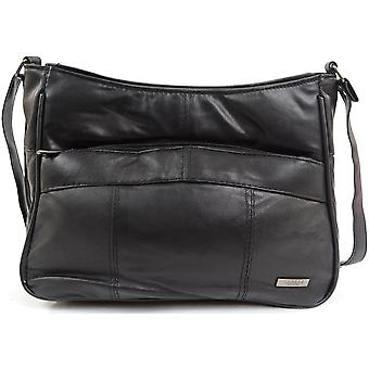 Ladies / Womens Practical Soft Nappa Leather Casual Handbag / Shoulder Bag