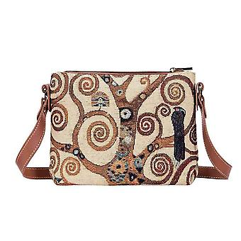 Gustav Klimt-Tree of Life skulder Cross Body bag av signare billedvev/xb02-Art-GK-Tree