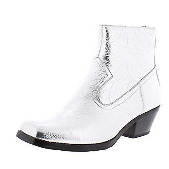 Calvin Klein Womens Sadi paper Fabric Closed Toe Ankle Fashion Boots
