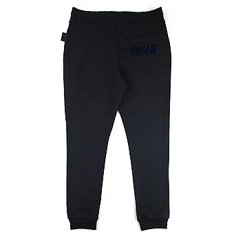 Versace Jeans Couture Flocked Logo Joggers Black