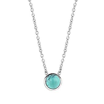 Ti Sento Poolside reflections 3845TQ-42 - necklace silver necklace and closed set with turquoise stone woman