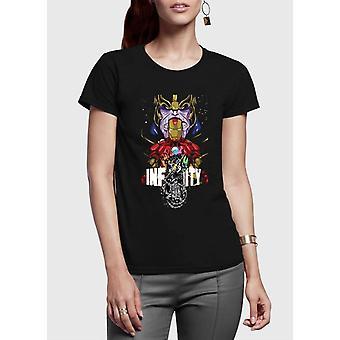 Infinity half sleeves women t-shirt