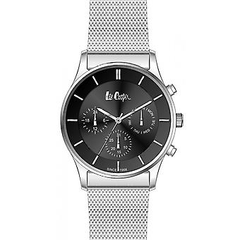 Shows Lee Cooper-LC06544-350 - chronograph steel Milanese Silver Dial black man