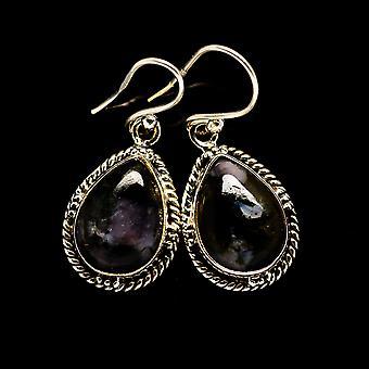 """Gabbro Earrings 1 1/4"""" (925 Sterling Silver)  - Handmade Boho Vintage Jewelry EARR394623"""