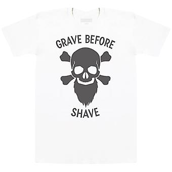 Grave Before Shave - Mens T-Shirt