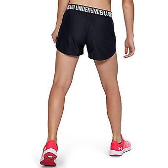 ALLA ARMOUR tytöt pelata ylös workout kunto sali shortsit, musta (001)/valkoinen, nuorten pieni