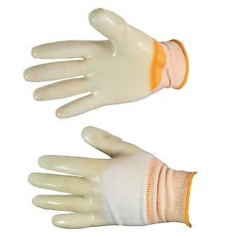 Gardening & DIY Latex Gloves Good Grip Orange Comfortable UK Seller