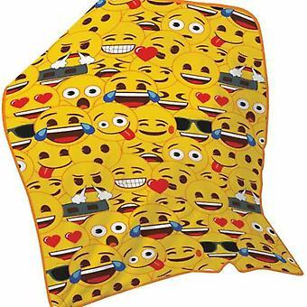 Emoji Multi Face Fleece Blanket