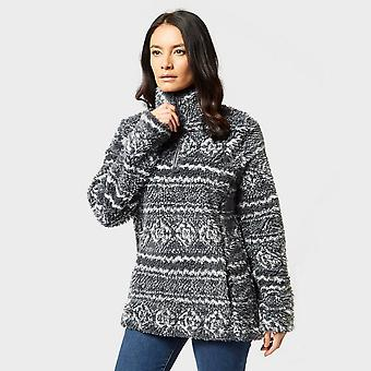 New Hi Tec Women's Bobbi Half-Zip Fleece Grey