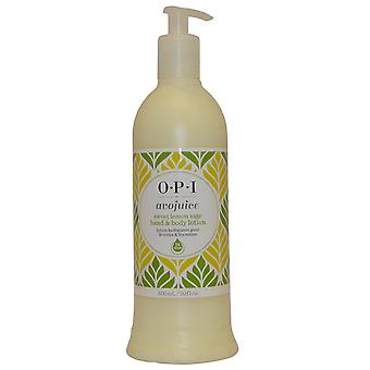 OPI O P ik / O.P.I Hand en Body Lotion Avojuice 600ml Sweet Lemon Sage