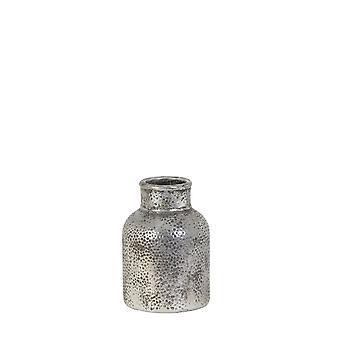 Ljus & Levande Vas Deco 13.5x19.5cm Morales Silver