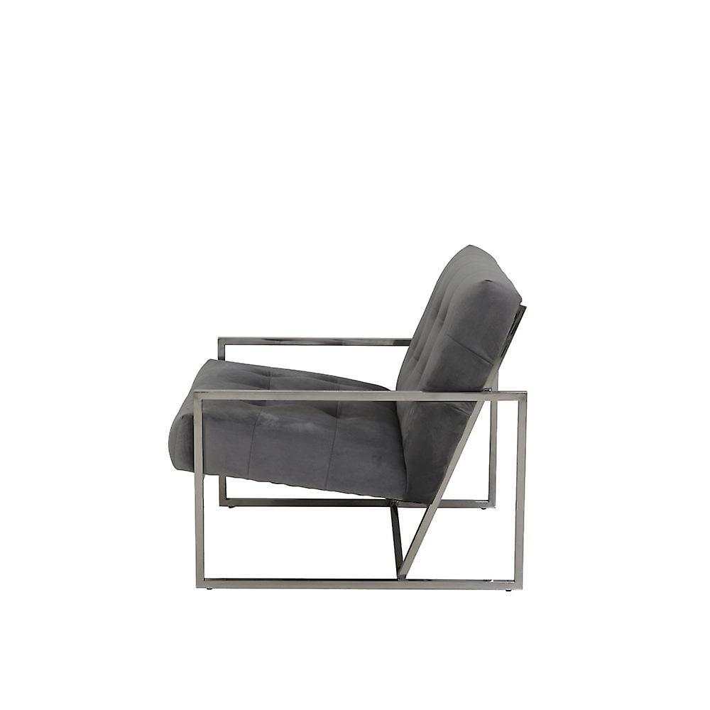 Chaise légère et vivante 71x81x70cm Geneve Velvet Grey