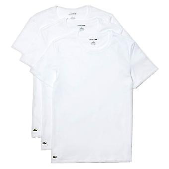 Lacoste Classic Crew Neck 3 Pack T-Shirts - Branco