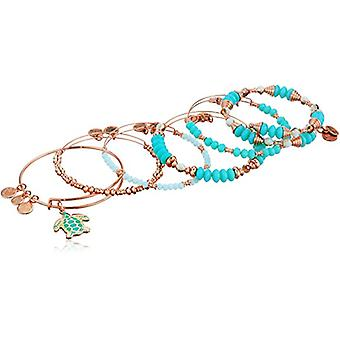 Alex and Ani Color Infusion Go with the Flow Set of 5 Bracelets Expandable