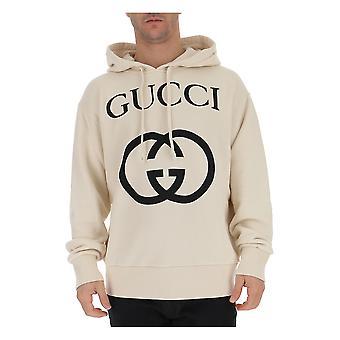 Gucci 475374x3q259524 Men's Bege Cotton Sweatshirt