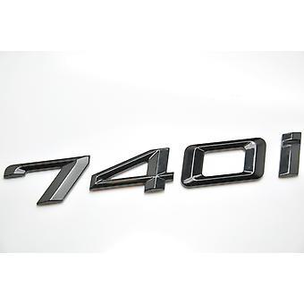 Gloss Black BMW 740i Car Model Rear Boot Number Letter Sticker Decal Badge Emblem For 7 Series E38 E65 E66E67 E68 F01 F02 F03 F04 G11 G12