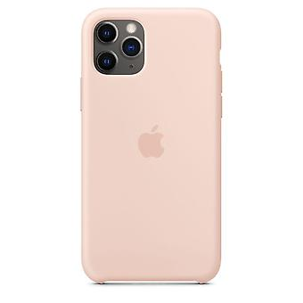 Originele verpakking MWYY2ZM/A Apple Siliconen Microfiber Cover Case voor iPhone 11 Pro Max - Zandroze