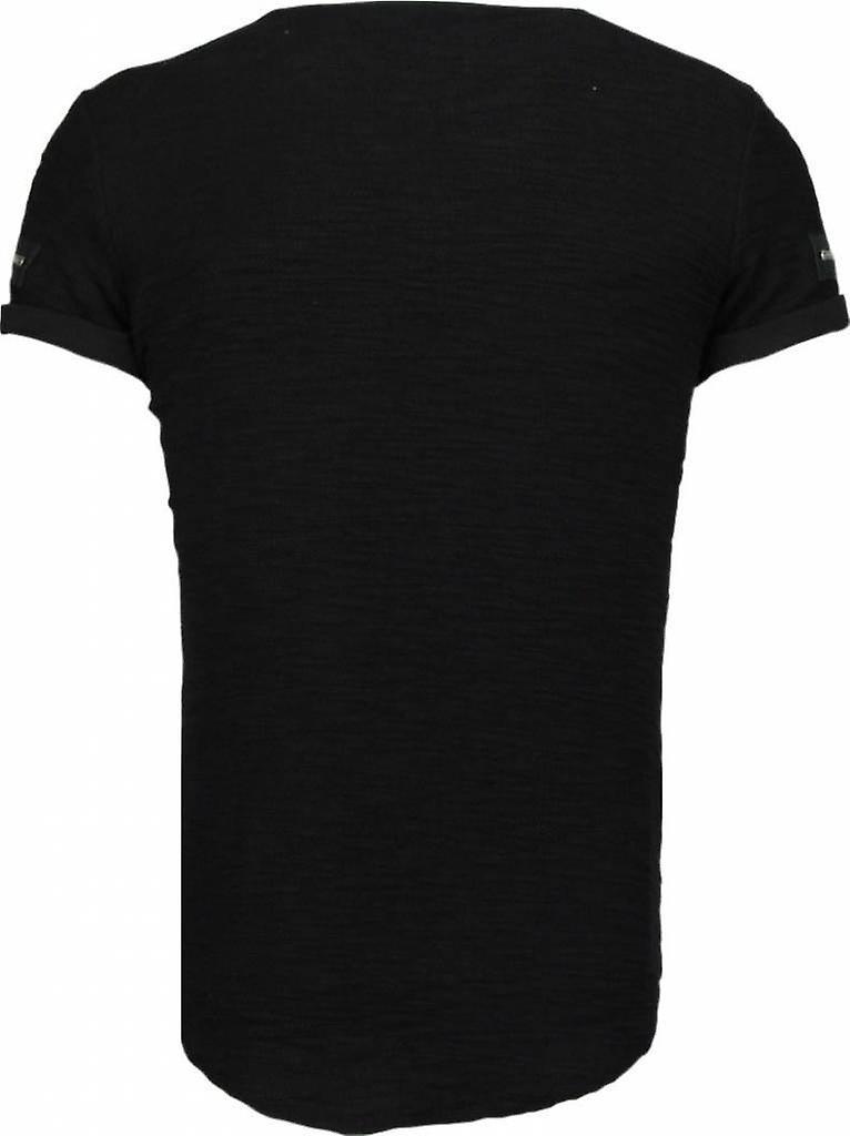 Zipped Chest - T-Shirt - Zwart