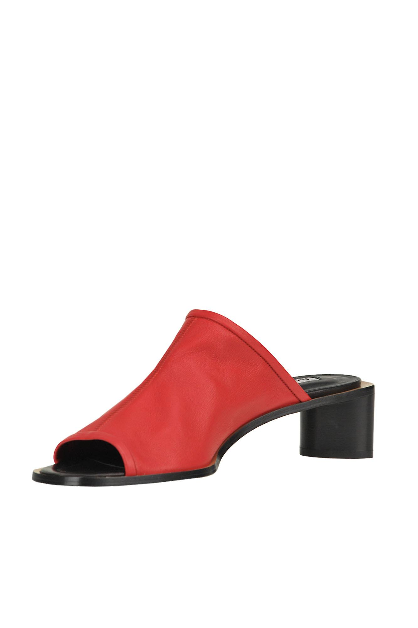 Acne Studios Ezgl151031 Women's Red Leather Sandals