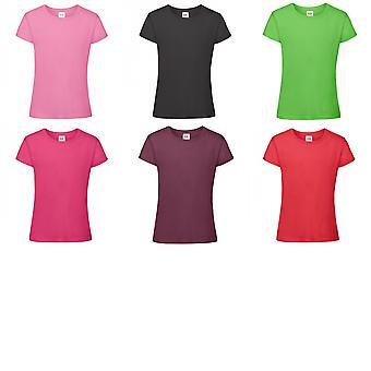 Fruit Of The Loom Girls Sofspun Short Sleeve T-Shirt (Pack of 2)