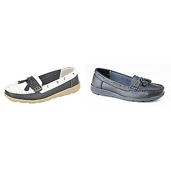 Boulevard Womens/Ladies Saddle/Tassle Boat Shoes