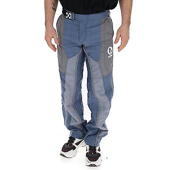 Off-white Omkf007s20i020350801 Men's Blue Nylon Pants