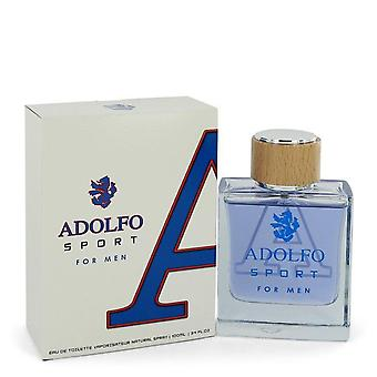Adolfo Sport Eau De Toilette Spray av Adolfo 3,4 oz Eau De Toilette Spray