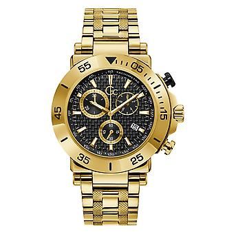 GC Y70004G2MF Men's One Chronograph Gold Tone Wristwatch