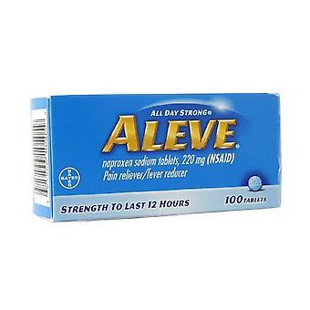 Aleve toată ziua puternic durere reliever, febră reductor, tablete, 100 ea