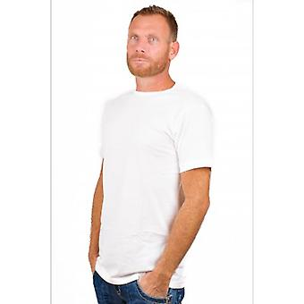 Alan Rot T-shirt Derby Extra lange weiß (2-Pack)